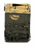 Schreibmaschine, grün_gold ( im Shop erhältlich )