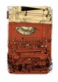 Schreibmaschine, rot_gold ( im Shop erhältlich )