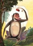 Affe mit Hut_ ( im Shop erhältlich )